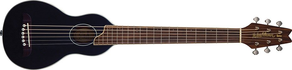Washburn Rover Travel Guitar w/ Case - Black
