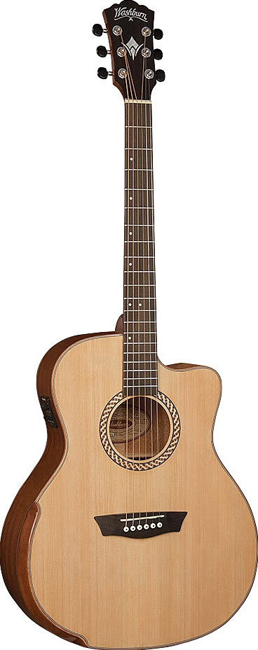Washburn WCG15CE Acoustic Electric Grand Auditorium Comfort Series