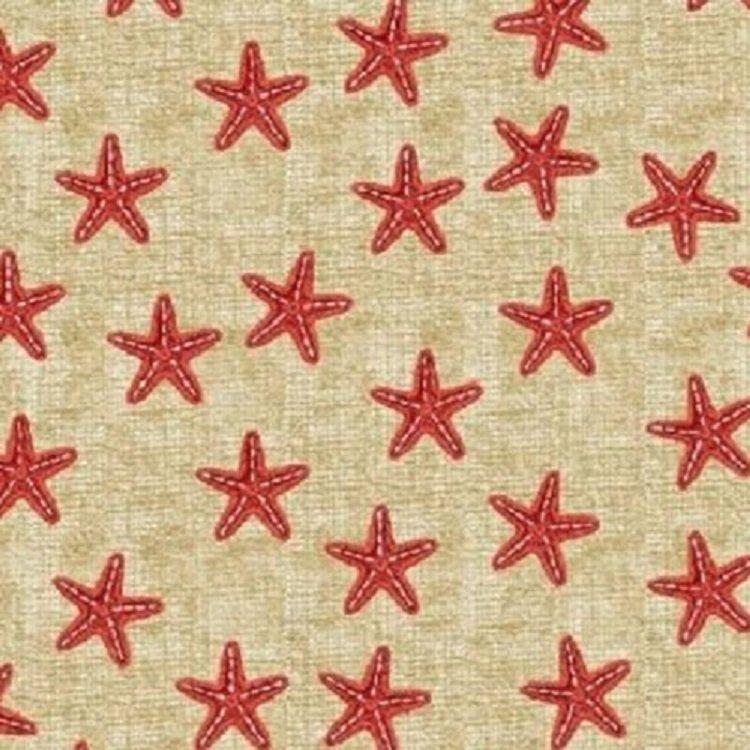 Red Starfish - Shoreline - Windham Fabrics