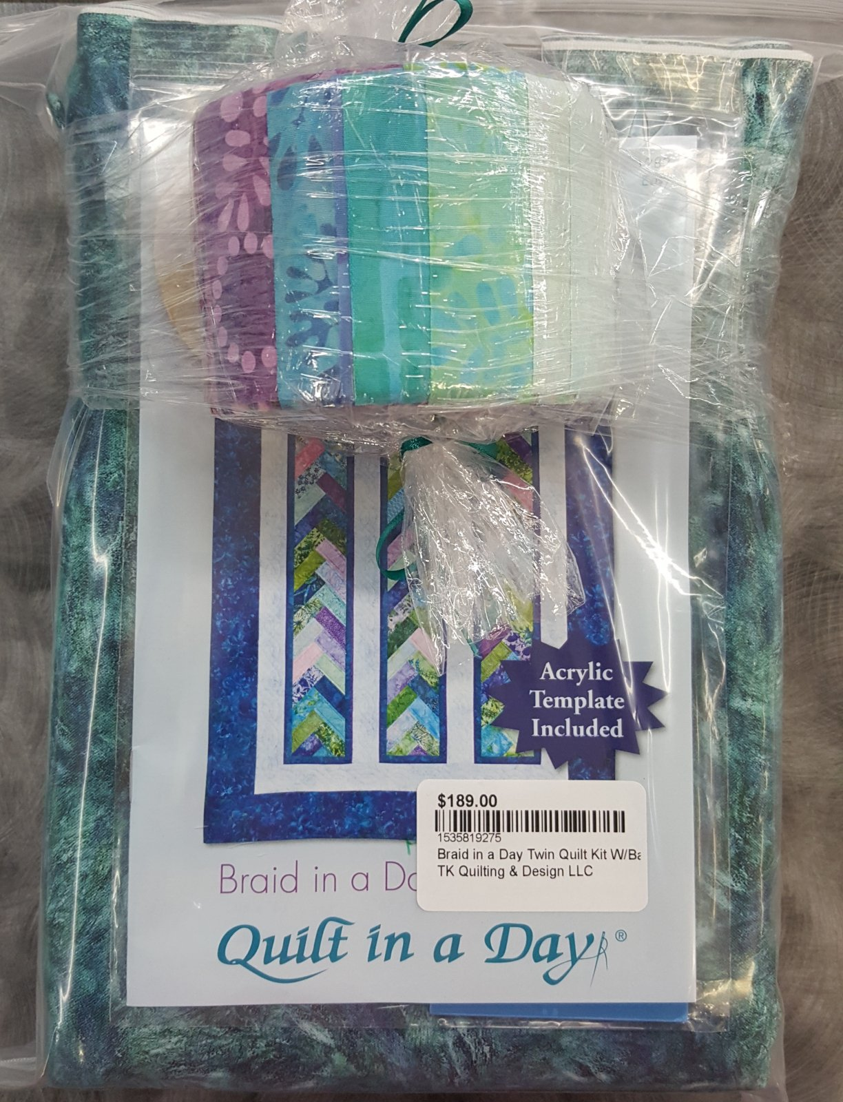 Braid in a Day Twin Quilt Kit W/Back