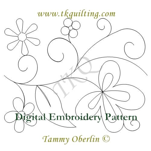 2581 Think Spring Border E2E Embroidery Format 200x260 AND 240x360