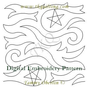 3009 Star Filled Skies E2E  - Embroidery Format - 240 x 360