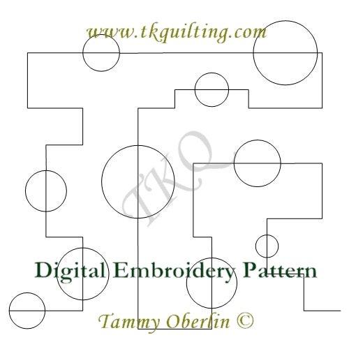 3058 Totally Mod Maze 4 E2E - Embroidery Format - 240 x 360