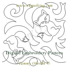 3227B Little Fox E2E  - Embroidery Format - 200x200 & 240 x 360