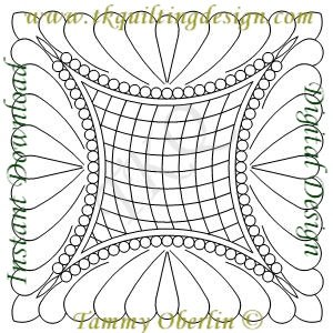 3241 Curve Cross Hatch Feather Pearl Block  - Embroidery Format - 200x200