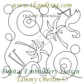 3320 Flamingo E2E - Digital Embroidery Pattern