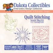 Sewin' big 24 Quilt Stitching -  Dakota Collectibles Embroidery Design Collection