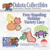 Free-stand Holiday Variety Lace  -  Dakota Collectibles Embroidery Design Collection