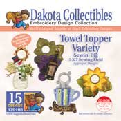 Kitchen Towel Topers Sewin Big -  Dakota Collectibles Embroidery Design Collection