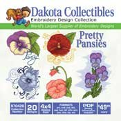 Pretty Pansies -Dakota Collectibles Embroidery Design Collection