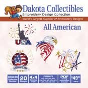 All American -  Dakota Collectibles Embroidery Design Collection