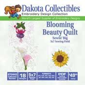 Blooming Beauty Quilt -  Dakota Collectibles Embroidery Design Collection