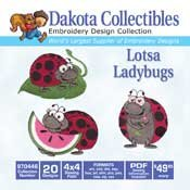 Lotsa Ladybugs -  Dakota Collectibles Embroidery Design Collection