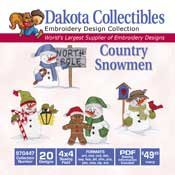 Country Snowmen -  Dakota Collectibles Embroidery Design Collection