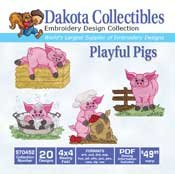Playful Pigs - Dakota Collectibles Embroidery Design Collection