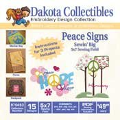 Peace Signs - Dakota Collectibles Embroidery Design Collection