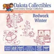 Redwork Winter - Dakota Collectibles Embroidery Design Collection