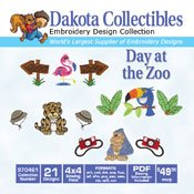Day At The Zoo - Dakota Collectibles Embroidery Design Collection