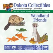 Woodland Friends  - Dakota Collectibles Embroidery Design Collection 970462