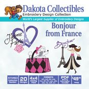 Bonjour From France - Dakota Collectibles Embroidery Design Collection