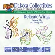 Delicate Wings - Dakota Collectibles Embroidery Design Collection 970468