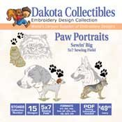 Paw Portraits - Dakota Collectibles Embroidery Design Collection