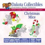 Christmas Mice - Dakota Collectibles Embroidery Design Collection