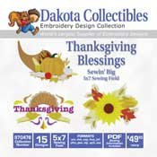 Thanksgiving Blessings - Dakota Collectibles Embroidery Design Collection