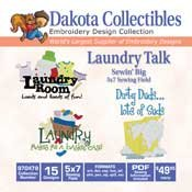 Laundry Talk - Dakota Collectibles Embroidery Design Collection