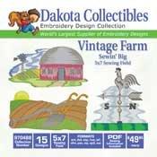 Vintage Farm - Dakota Collectibles Embroidery Design Collection