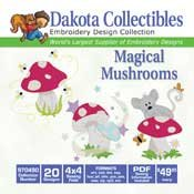 Mushrooms - Dakota Collectibles Embroidery Design Collection