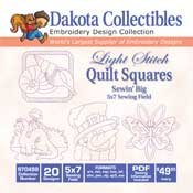 Light Stitch Quilts - Dakota Collectibles Embroidery Design Collection