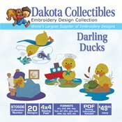 Darling Ducks 20 4x4 - Dakota Collectibles Embroidery Design Collection