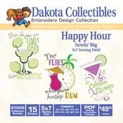 Happy Hour -  Dakota Collectibles Embroidery Design Collection