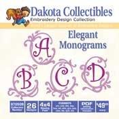 Elegant Monograms -  Dakota Collectibles Embroidery Design Collection