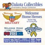 Welcome Home Heroes Sewin' Big - Dakota Collectibles Embroidery Design Collection