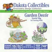 Garden Decor - Dakota Collectibles Embroidery Design Collection