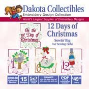 12 Days Of Christmas -  Dakota Collectibles Embroidery Design Collection