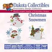 Christmas Snowmen -Dakota Collectibles Embroidery Design Collection