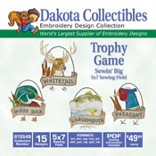 Trophy Game -  Dakota Collectibles Embroidery Design Collection