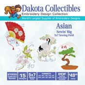 Sewin' Big Asian - Dakota Collectibles Embroidery Design Collection