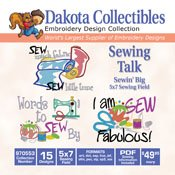 Sewin' Big Sewing Talk - Dakota Collectibles Embroidery Design Collection