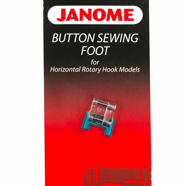 Janome Button Sewing Foot  #200136002 For Horizontal Rotary Hook Models