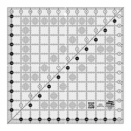 Creative Grids Quilting Ruler 12 1/2 in Square *