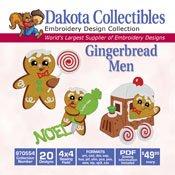 Gingerbread Men -Dakota Collectibles Embroidery Design Collection