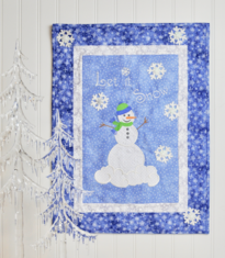 Let it Snow, Man! Wall Hanging *