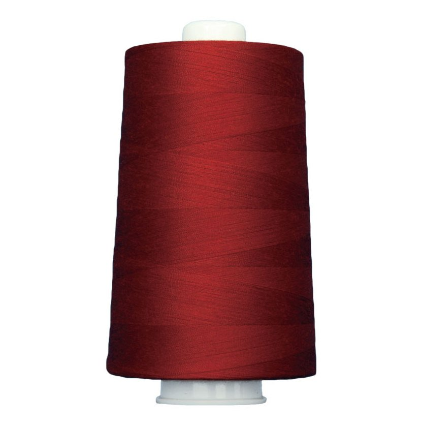 OMNI #3140 Firey Red 6000 yds Poly-wrapped poly core