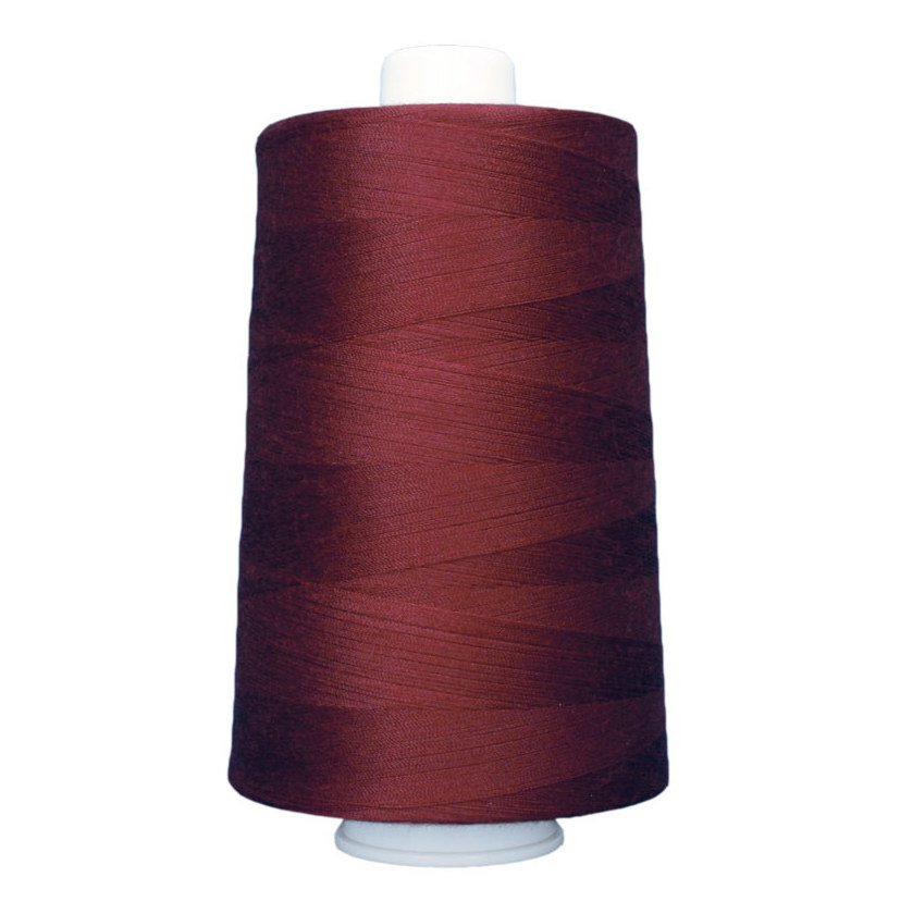 OMNI #3141 Deep Red 6000 yds Poly-wrapped poly core