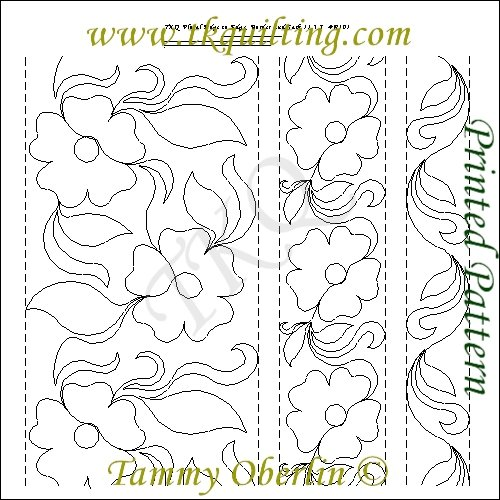 TKQ Floral E2E Border and Sash R101