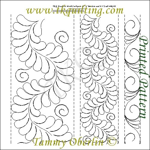 TKQ Feathers with Curliques Border/Sash Patterns R103